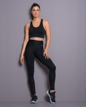 high-waisted solid shaper legging - activelife-700- Black-MainImage