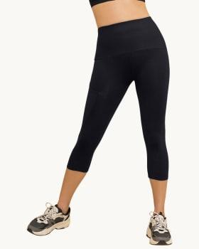 high-waisted side pocket shaper legging activelife-700- Black-MainImage
