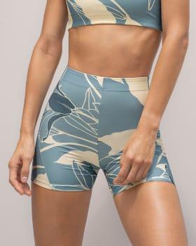 short corto deportivo ajustado y ligero con comodo elastico en cintura-086- Estampado Azul / Marfil-MainImage