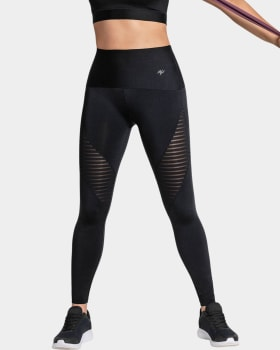 mesh stripe sculpting active leggings-700- Black-MainImage