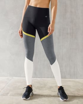 sports leggings with tummy compression - colour-field style-701- Black-MainImage