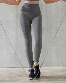 quick-dry sports leggings with mild tummy compression-717- Gris Jaspe-MainImage