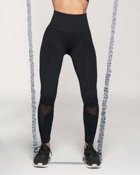 legging deportivo de tiro alto sin costuras con fajon doble tela en cintura y mallas transpirables-700- Black-MainImage