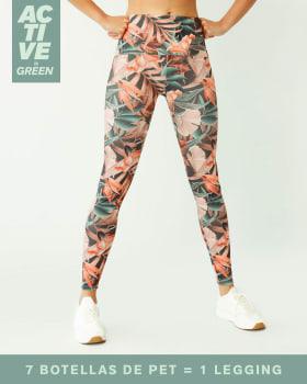 legging tiro alto de control moderado en cintura en material pet reciclado-064- Estampado Hojas-MainImage