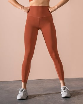sports legging with antibacterial technology infused with aloe vera-221- Terracota-MainImage