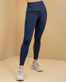 sports legging with antibacterial technology infused with aloe vera-588- Azul Oscuro-MainImage