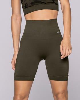short ciclista sin costuras con control suave de abdomen-695- Verde Oscuro-ImagenPrincipal