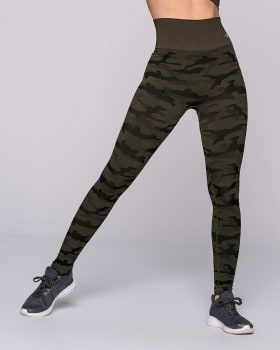 high-waisted seamless workout legging-695- Verde Oscuro-MainImage