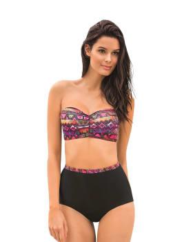bikini strapless con panty alto con control de abdomen--MainImage