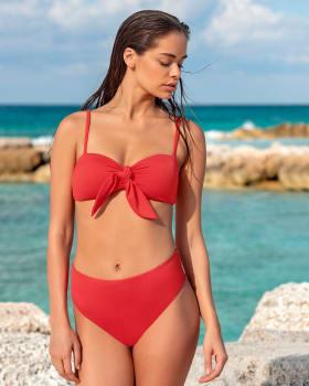 tie-front push up bikini-201- Coral-MainImage