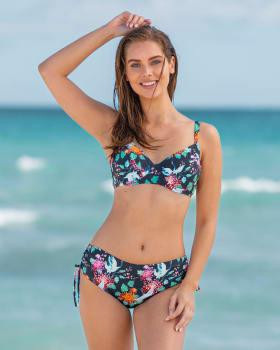 adjustable bottom triangle bikini-509- Blue-MainImage