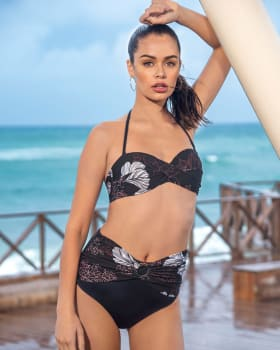 bikini sin tirantes con braguita de talle alto y fajon decorativo-712- Black-ImagenPrincipal