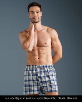 paquete x2 boxers sueltos en algodon de maxima frescura te llegara en el color disponible--MainImage