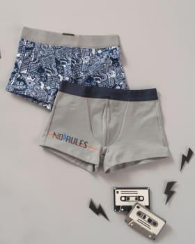 paquete x2 boxers en algodon para ninos-S44- Estampado / Fondo Gris-MainImage