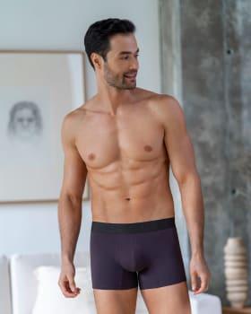 paquete x2 boxers cortos en algodon elastico-S44- Fdo Azul / Morado Oscuro-MainImage