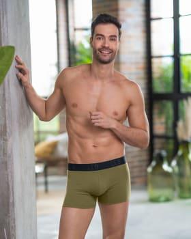 paquete x2 boxers cortos en algodon elastico-S45- Azul Petroleo / Verde Medio-MainImage