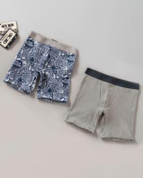 paquete x 2 boxer largo en algodon para nino-S03- Estampado / Gris Claro-MainImage