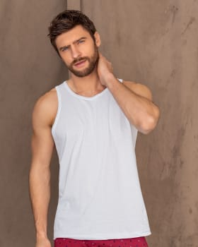 paquete x2 camisillas en algodon silueta semiajustada para hombre-000- White-MainImage