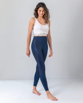 leather look zip-front sculpting legging-546- Azul Oscuro-MainImage