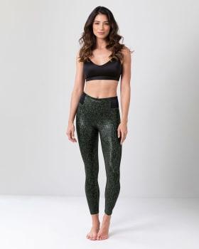 faux snakeskin shaper leggings-695- Verde Oscuro-MainImage