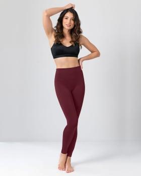 high-waisted tummy control legging - super comfort and flexibility-466- Vino Tinto Medio-MainImage