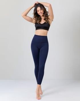 high-waisted tummy control legging - super comfort and flexibility-546- Azul Oscuro-MainImage