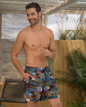 pantaloneta de bano masculina corta elaborada con 3 botellas de pet reciclado-678- Estampado Camuflado-ImagenPrincipal