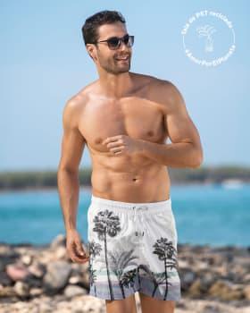 pantaloneta corta de bano para hombre elaborada con pet reciclado-012- Estampado Palmeras-MainImage