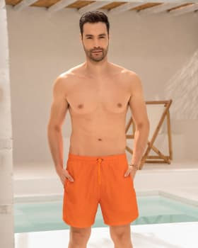 pantaloneta corta de bano para hombre elaborada con pet reciclado-260- Naranja-MainImage