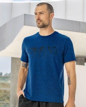 camiseta deportiva con malla en contraste en espalda-546- Azul-MainImage