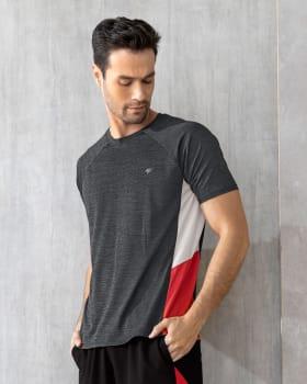 camiseta deportiva de secado rapido con bloques de color laterales-717- Gris-MainImage
