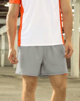 pantaloneta deportiva con acabado antifluidos  boxer interno-750- Gris / Naranja-MainImage