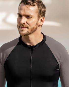 mens long sleeve sports shirt with uv protection-700- Black-MainImage