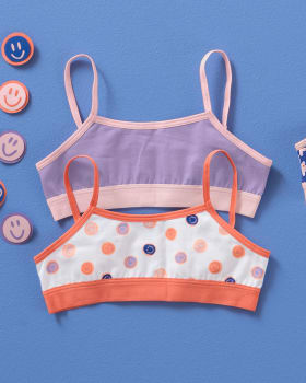 2-pack everyday crop tops for girls-S03- Fondo Blanco / Morado-MainImage