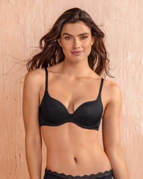 push up bra with multiway straps-700- Black-MainImage