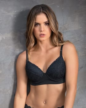 lace full cup triangle bra - powerslim technology--MainImage