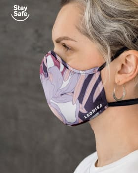 airtight triple-layered face mask with anti-fluid and antibacterial technology - unisex-098- Purple-MainImage