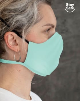 airtight triple-layered face mask with anti-fluid and antibacterial technology - unisex-634- Green-MainImage