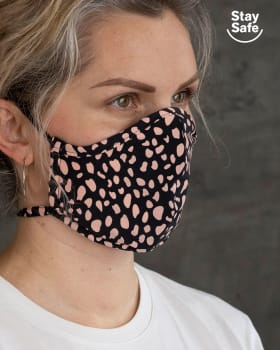 airtight triple-layered face mask with anti-fluid and antibacterial technology - unisex-700- Animal Print-MainImage