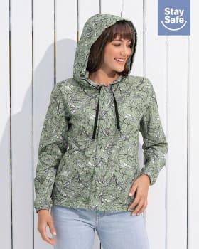 chaqueta femenina antifluidos con tapabocas removible-662- Verde Estampado-MainImage