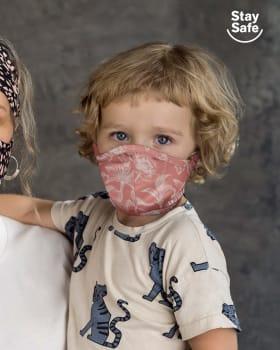 tapabocas infantil hermetico proteccion triple capa tecnologia antifluido y antibacterial unisex-354- Rosa Floral-ImagenPrincipal