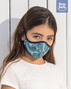 mascarilla infantil hermetica proteccion triple capa tecnologia antifluido y antibacterial - unisex-501- Azul Claro-MainImage