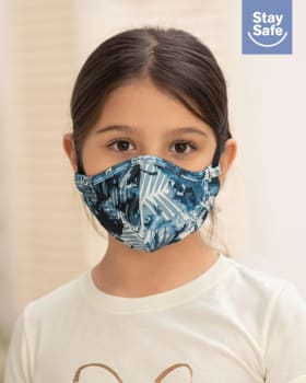 mascarilla infantil hermetica proteccion triple capa tecnologia antifluido y antibacterial - unisex-510- Azul Oscuro-MainImage
