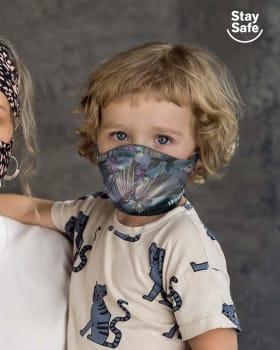 mascarilla infantil proteccion coronavirus con triple capa-572- Azul Estampado-ImagenPrincipal
