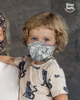 mascarilla infantil proteccion con triple capa-662- Verde Estampado-ImagenPrincipal