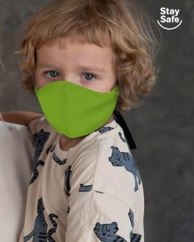 tapabocas infantil hermetico proteccion triple capa tecnologia antifluido y antibacterial unisex-602- Neon Green-ImagenPrincipal