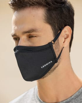 airtight fluid resistant face mask with inner support frame and portable case-700- Negro-MainImage