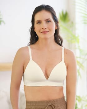 nursing bra with antibacterial technology and accessory to detach cups--MainImage