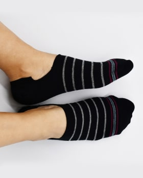 calcetin invisible de algodon con diseno que protege el pie-008- Fondo Black-MainImage