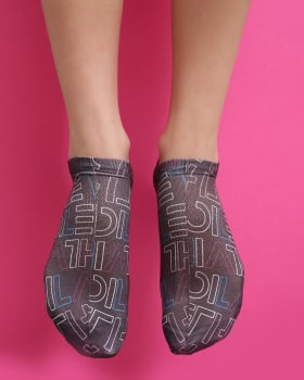 calcetines de nylon con diseno sublimado tipo calceta-008- Negro Estampado-MainImage